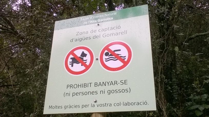 Zona de captacio d´aigues del Gomarell dels pobles d´Argelaguer, Tortellà i Montagut i Oix prop de Sant Aniol d'Aguja a Alta Garrotxa (Foto: Lejarza)
